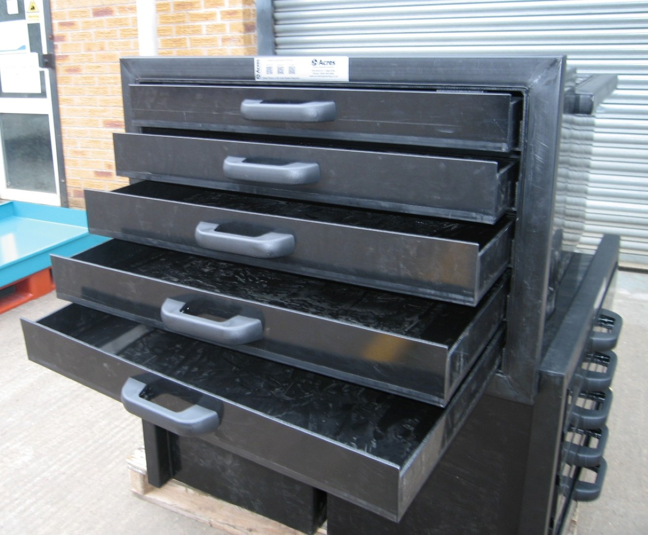 HDPE Plastic Drawer Unit