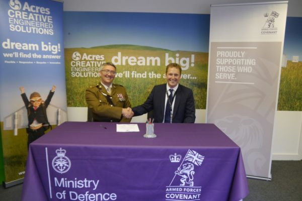 Acres Engineering Sign Armed Forces Covenant.