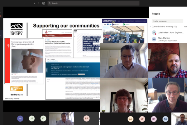 Derby College of Engineering & Technology Industry Advisory Board's virtual meeting