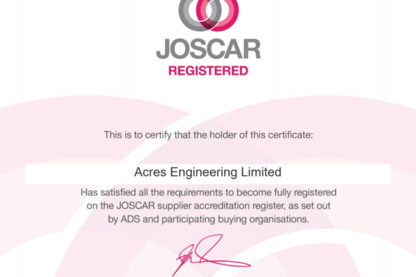 JOSCAR supplier accreditation
